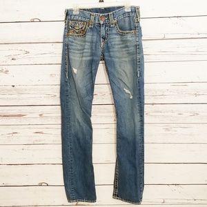 True Religion Ricky Super T straight leg jeans FRG